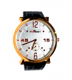 Forest Coffee Colour Lether Strap Slim Look Analogue Wrist Watch for Mens & Boys - 8330