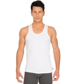 Jockey White Vest Basic Undershirt