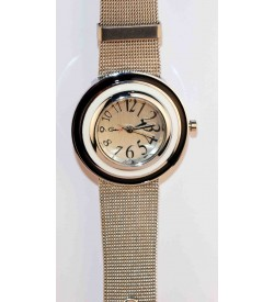 Genx Silver Sheffer Chain Analog Watch For Girls & Women W-6731